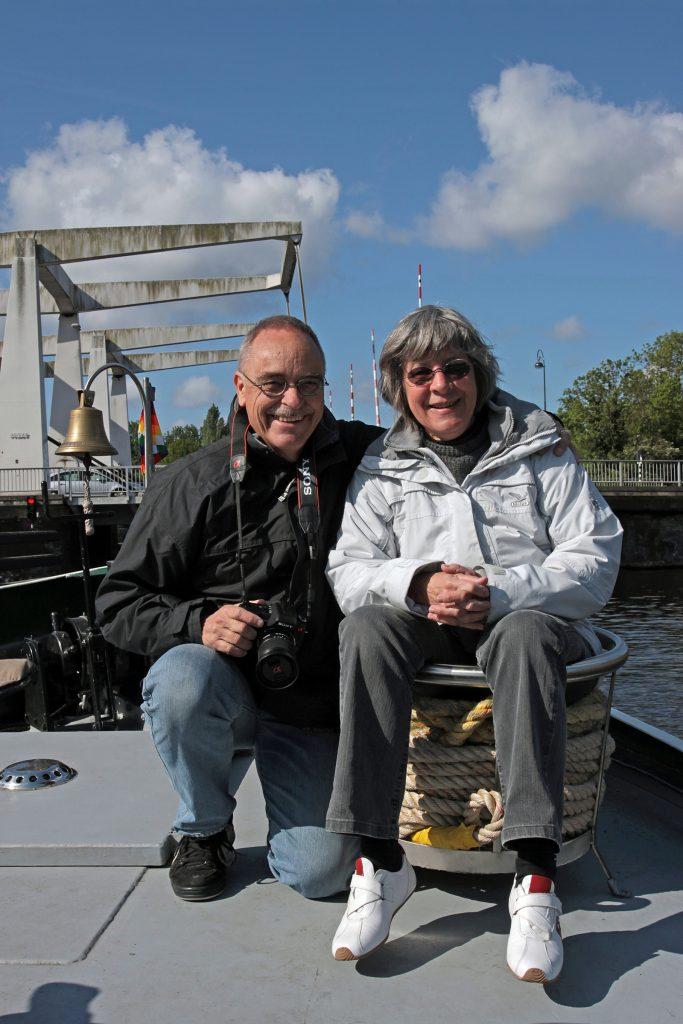Dominique und Fredi begleiten uns von Alkmaar nach Gouda