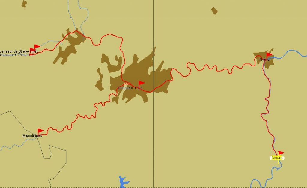 Dinant – Erquelinnes (Karte PC Navigo)
