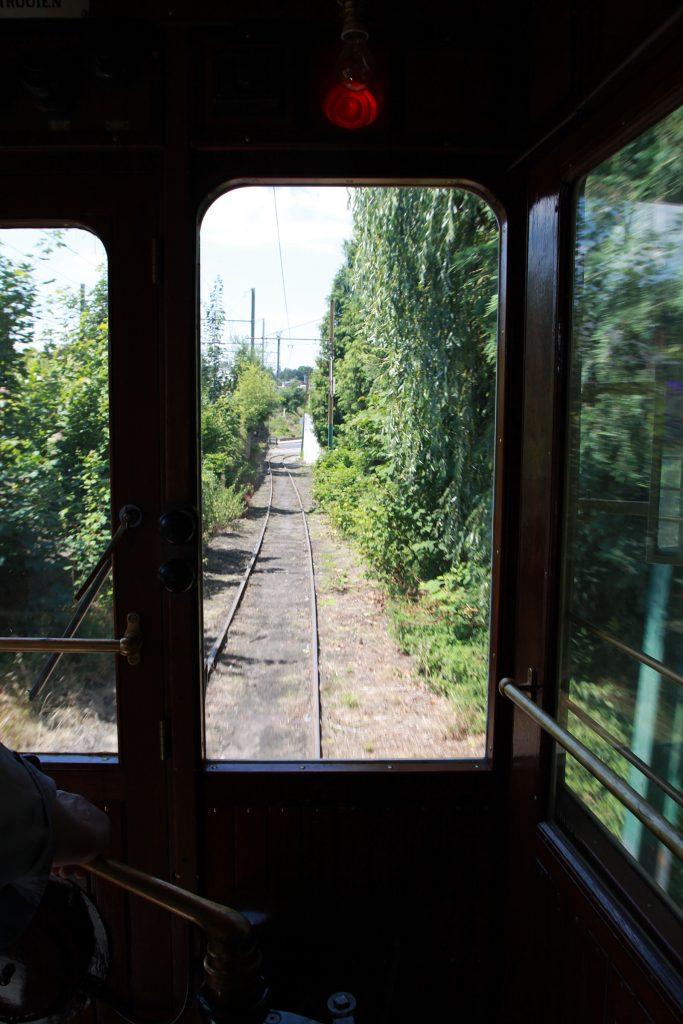 Das alte Tramgeleise zwischen Thuin und Lobbes