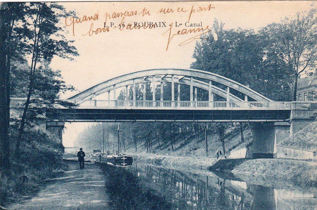 Der Canal de Roubaix um 1910 (Postkarte Sammlung Christian Huber)