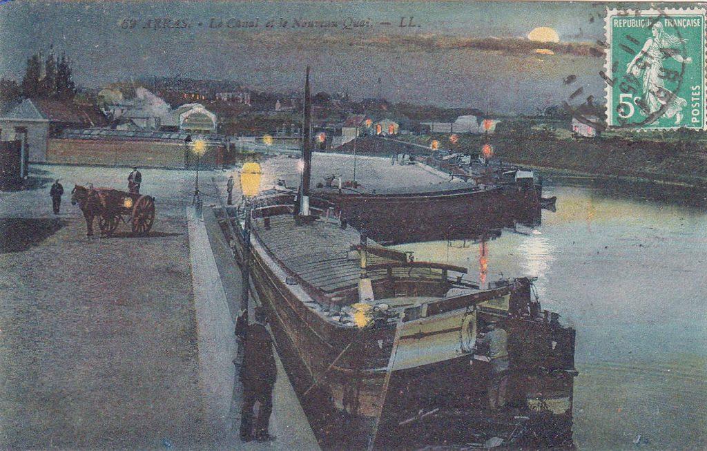 Schifffahrt in Arras anno 1911 (Postkarte Sammlung Christian Huber)