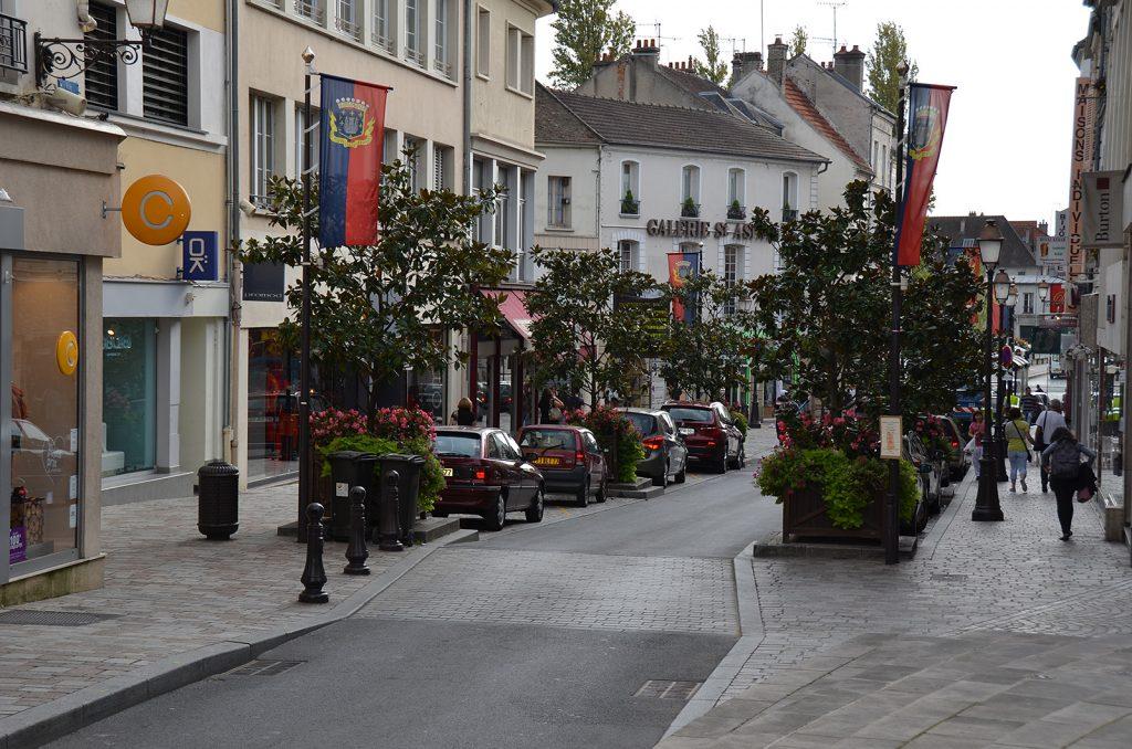 Stadtzentrum von Melun