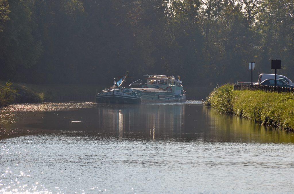 Die belgische «Necta» transportiert 265 Tonnen Getreide