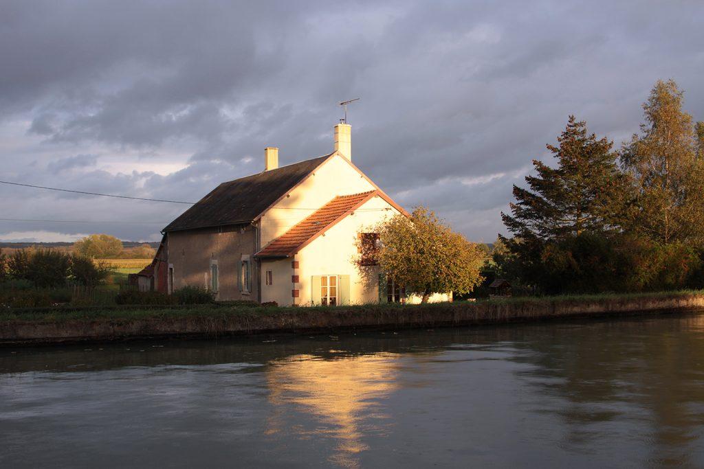 Abendstimmung am Canal latéral à la Loire