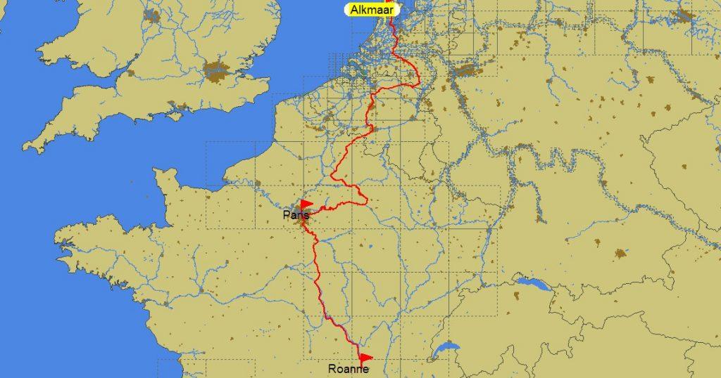 Von Alkmaar nach Roanne (PC Navigo ©)