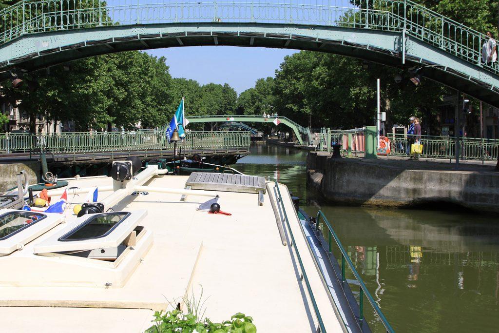 Dreh- und Fussgängerbrücken über den Canal St Martin