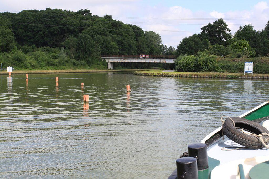 Einfahrt in den Canal de la Somme