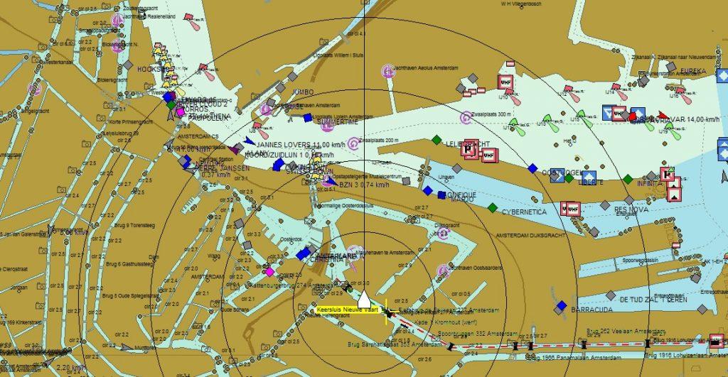 AIS und Navigationsprogramm gekoppelt