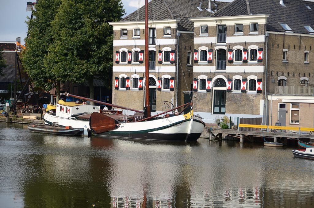 Der historische Hafen von Gouda