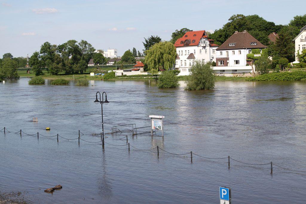 Eine Hochwasserkatastrophe kündigt sich an