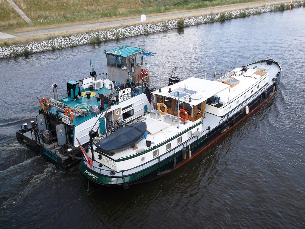 Mit «Edgar» unterwegs zur Werft in Genthin (Foto Stefan Siekmann)