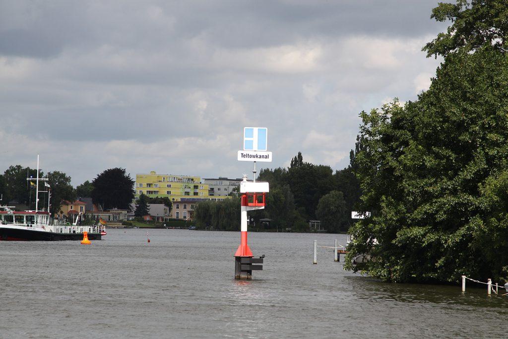 Einfahrt in den Teltowkanal bei Köpenick