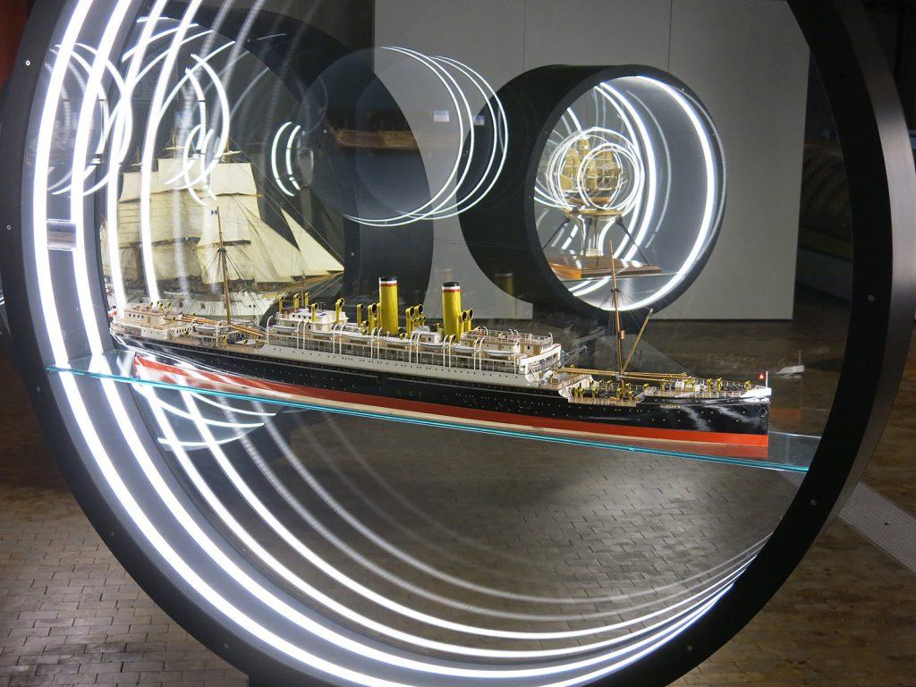 Schiffsmodell im technischen Museum