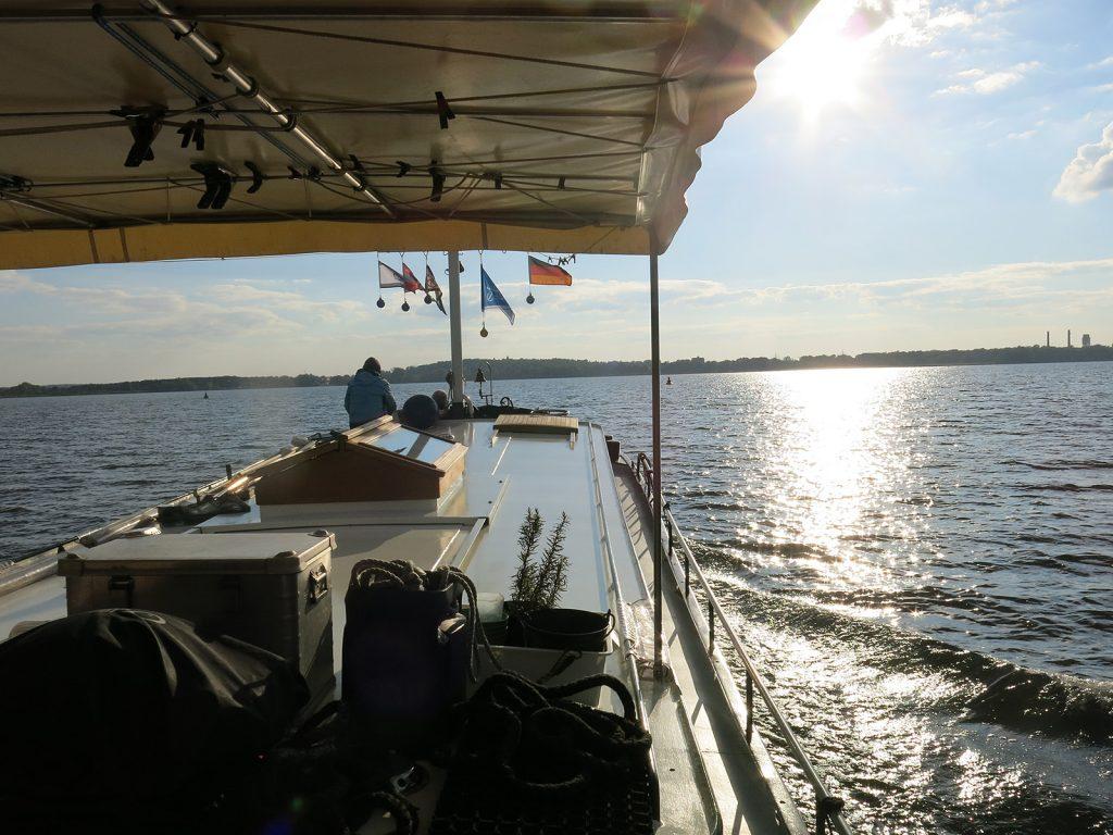 Unterwegs auf dem Plauer See nach Brandenburg