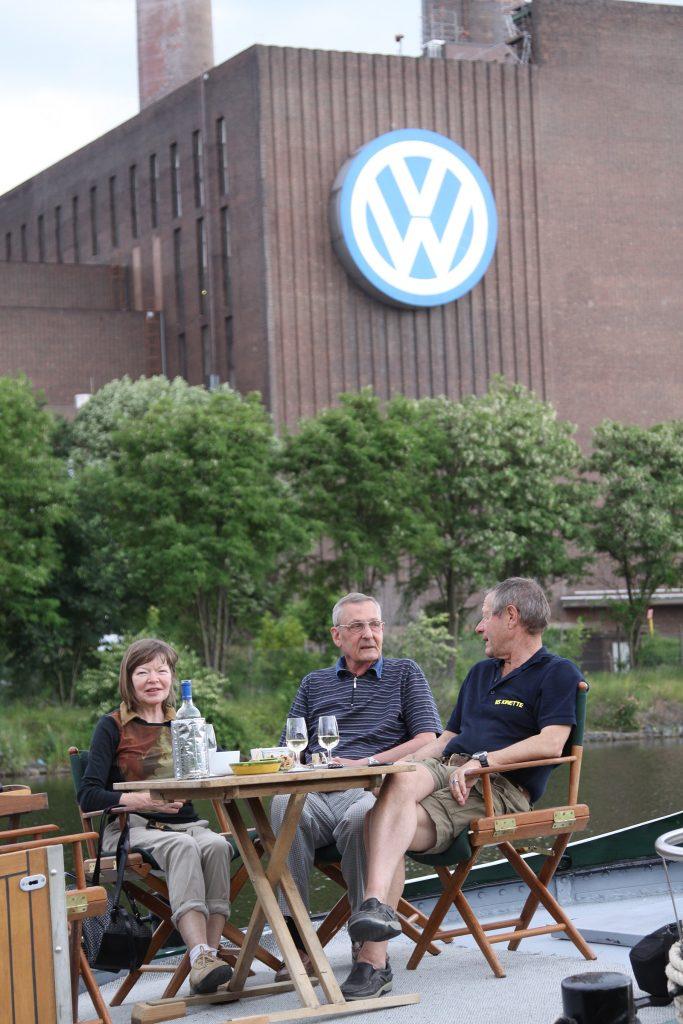 Urs und Liisa Baumgartner in Wolfsburg an Bord von «MS Kinette»