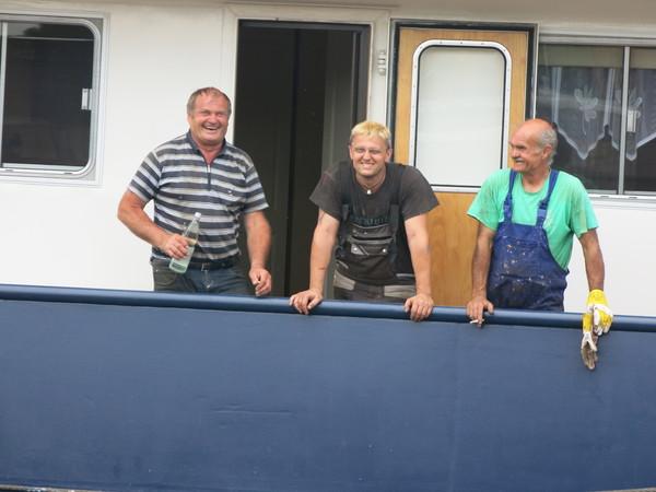 Die Crew der «Holcim I»: Günther, Matthias, Jurek