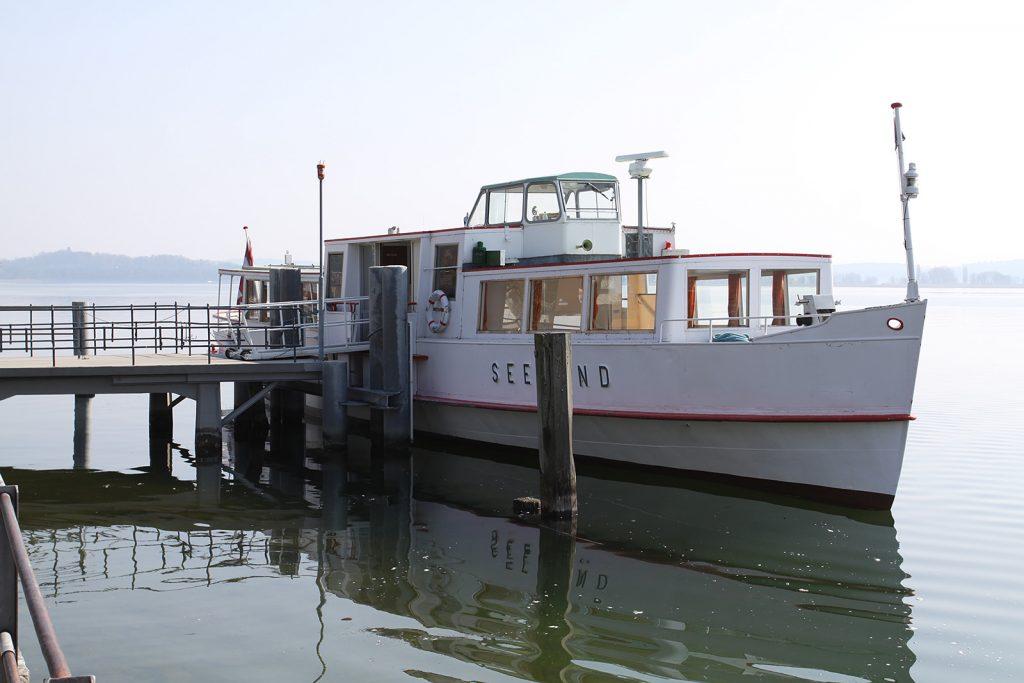 Die «Seeland», damals noch auf dem Bielersee