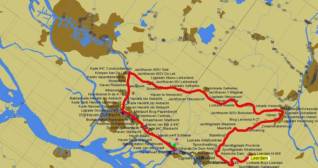 ... aber wir können über Vianen und Dordrecht fahren