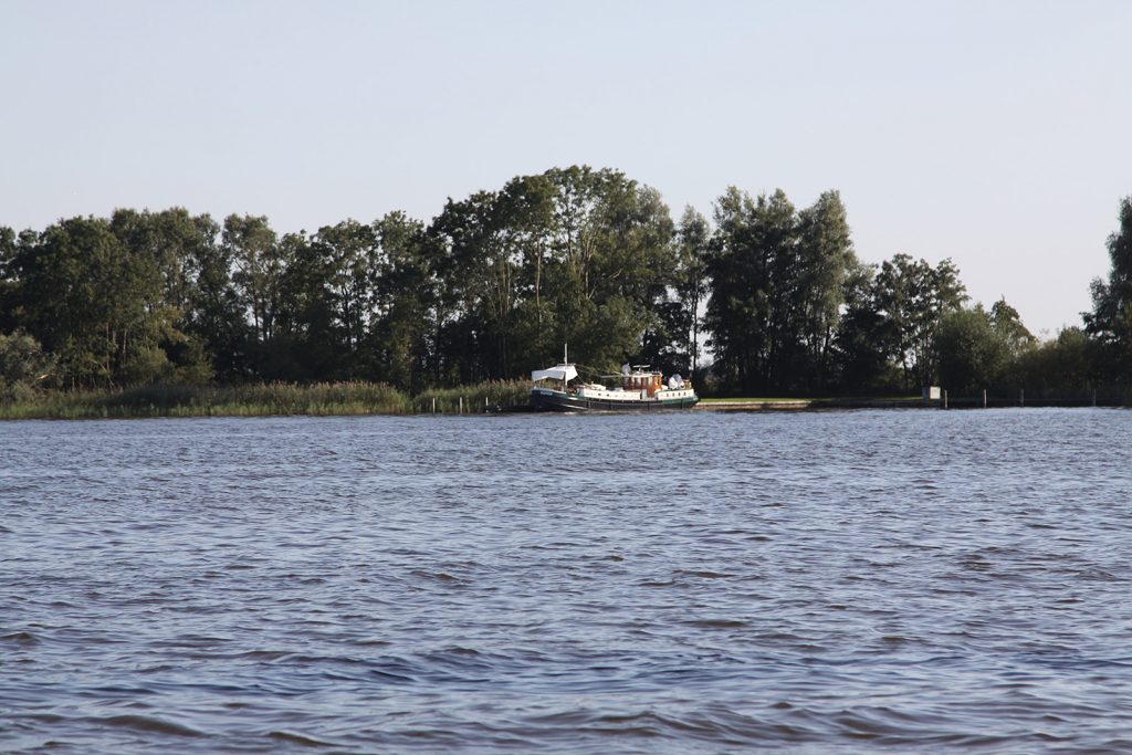Ein idyllischer Liegeplatz an einem Inselchen