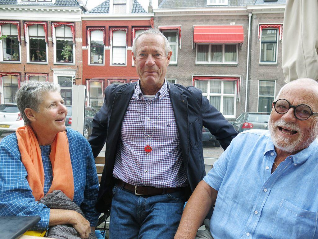 Margrit Haupt, Christian (mit Tomatenorden) und Jürg Haupt