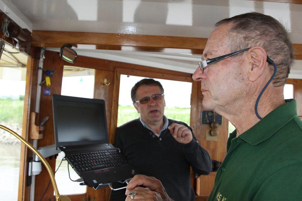 Hilmar Bockhacker begleitet uns auf der Seeschifffahrtsstrecke