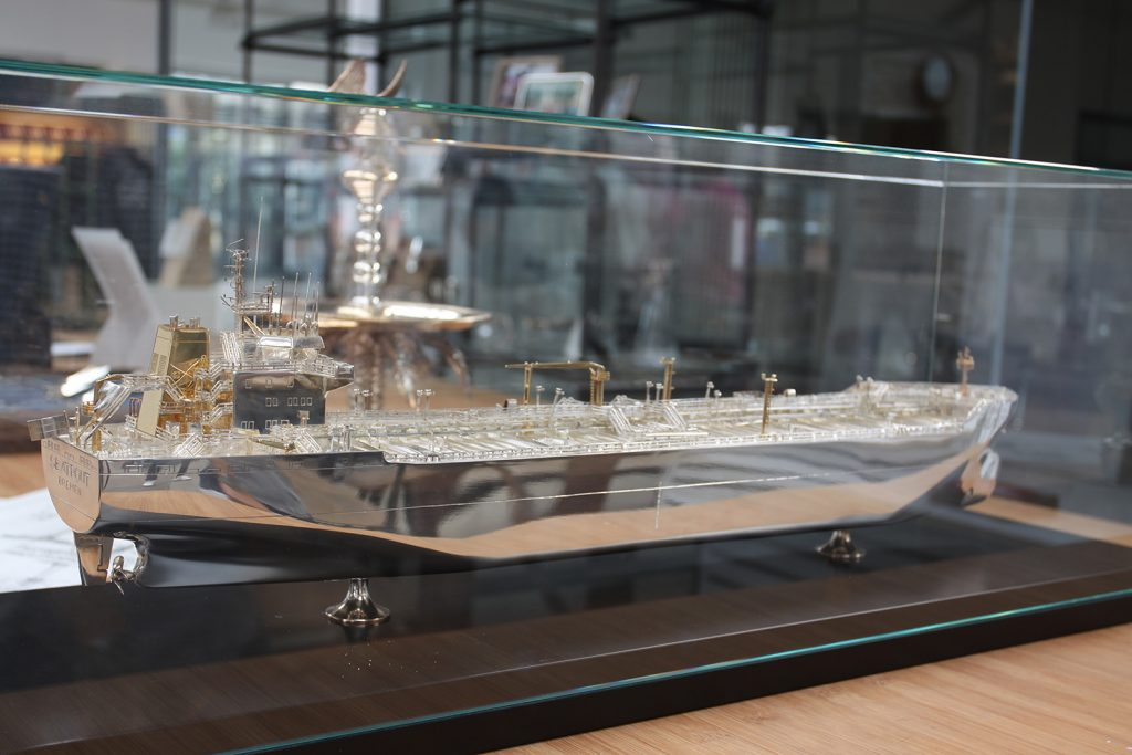 Der Tanker «Seatrout» als Modell