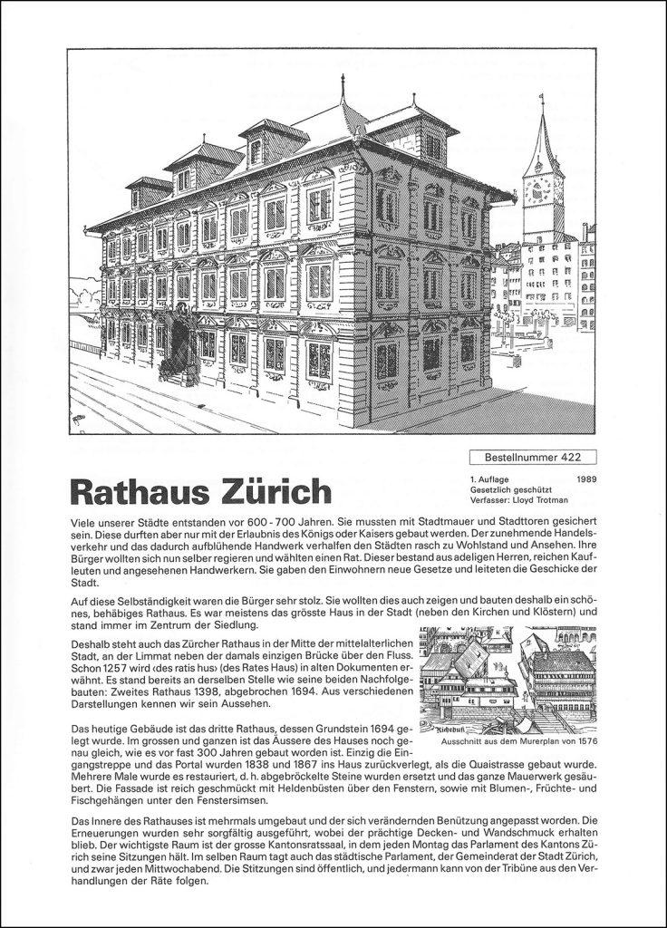 Die Trouvaille: Das Zürcher Rathaus