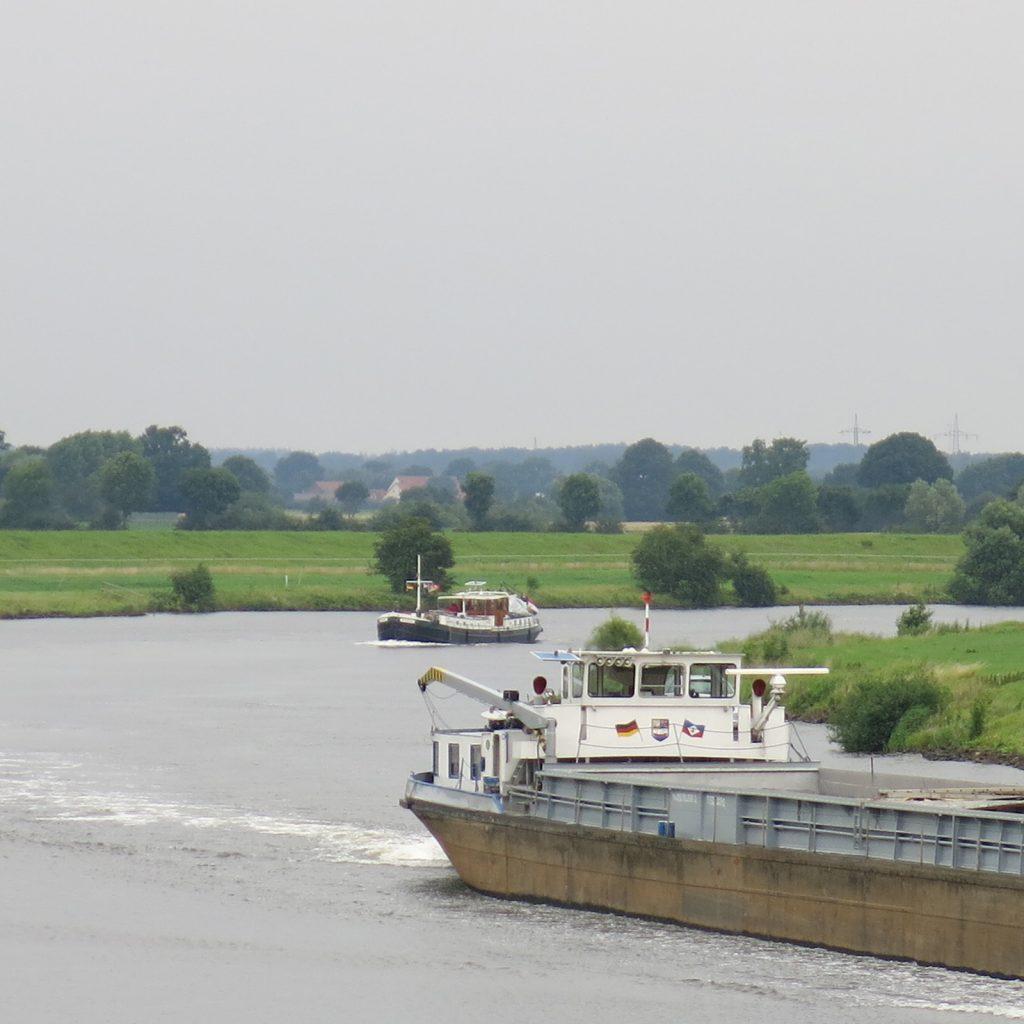 Mündung der Aller in die Mittelweser (Foto: Corina Metschke)