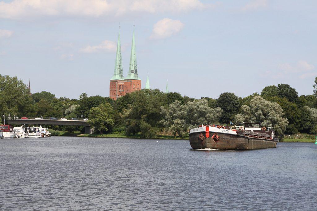Der Lübecker Dom in Sicht