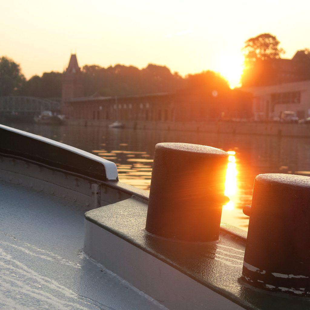 Sonnenaufgang zum Abschied von Lübeck