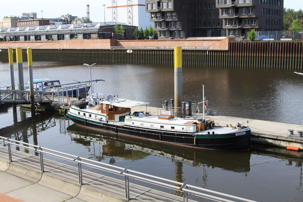 Unser Liegeplatz in Bremen für einen Monat
