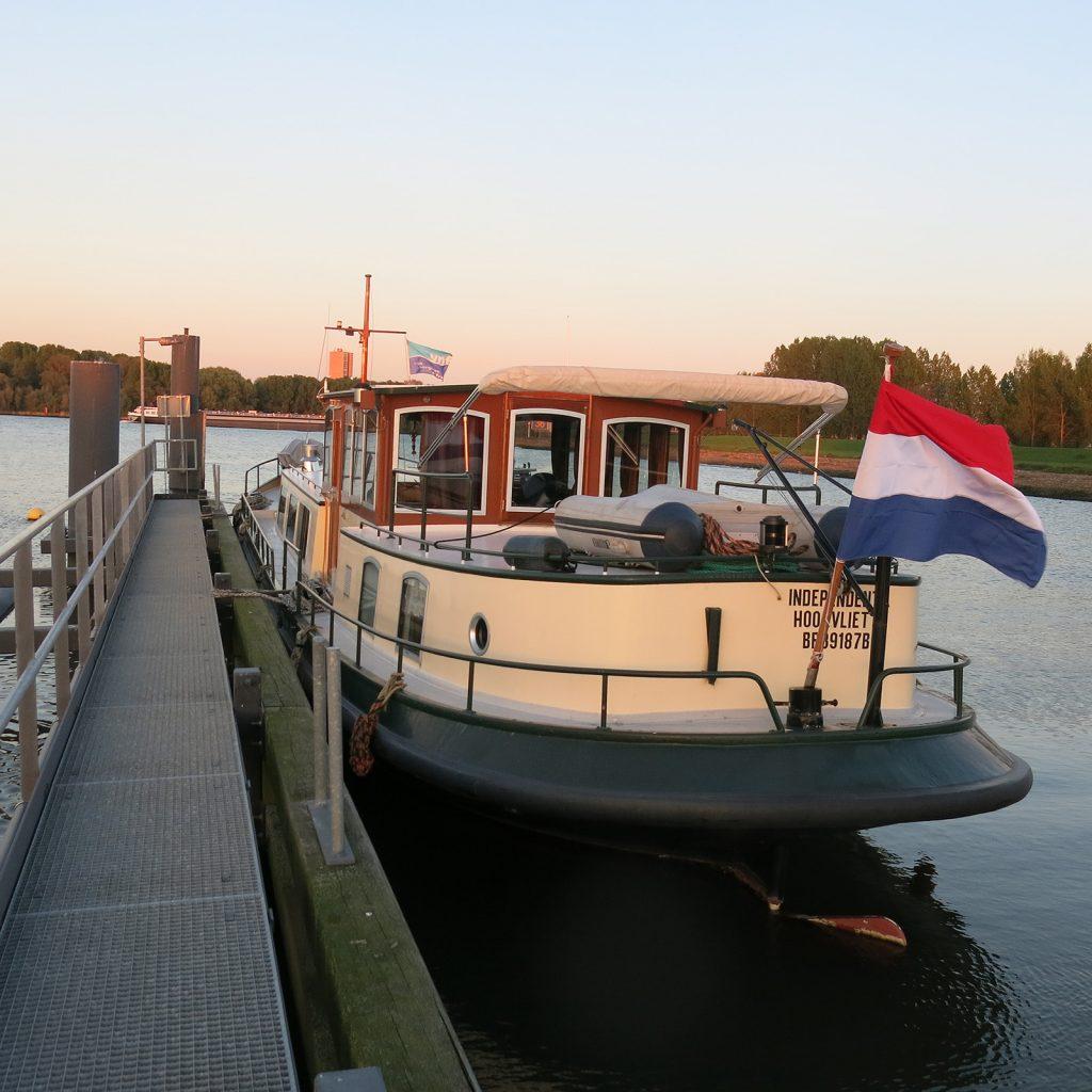 Am Aussensteg der Oostvoorner Schleuse