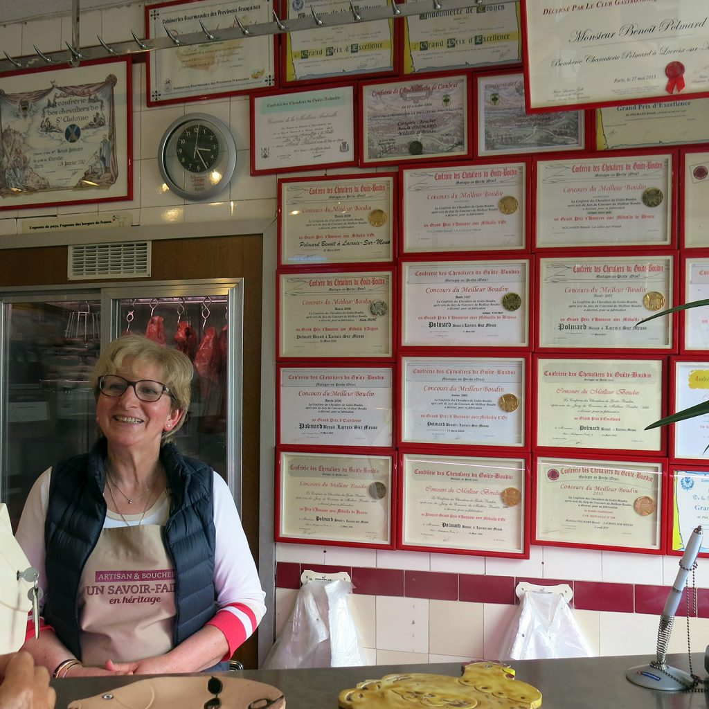 Diplome und Auszeichnungen in der Metzgerei von Lacroix