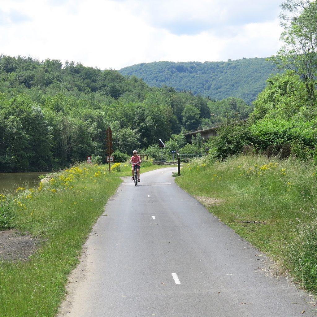 La «voie verte» entlang der Maas