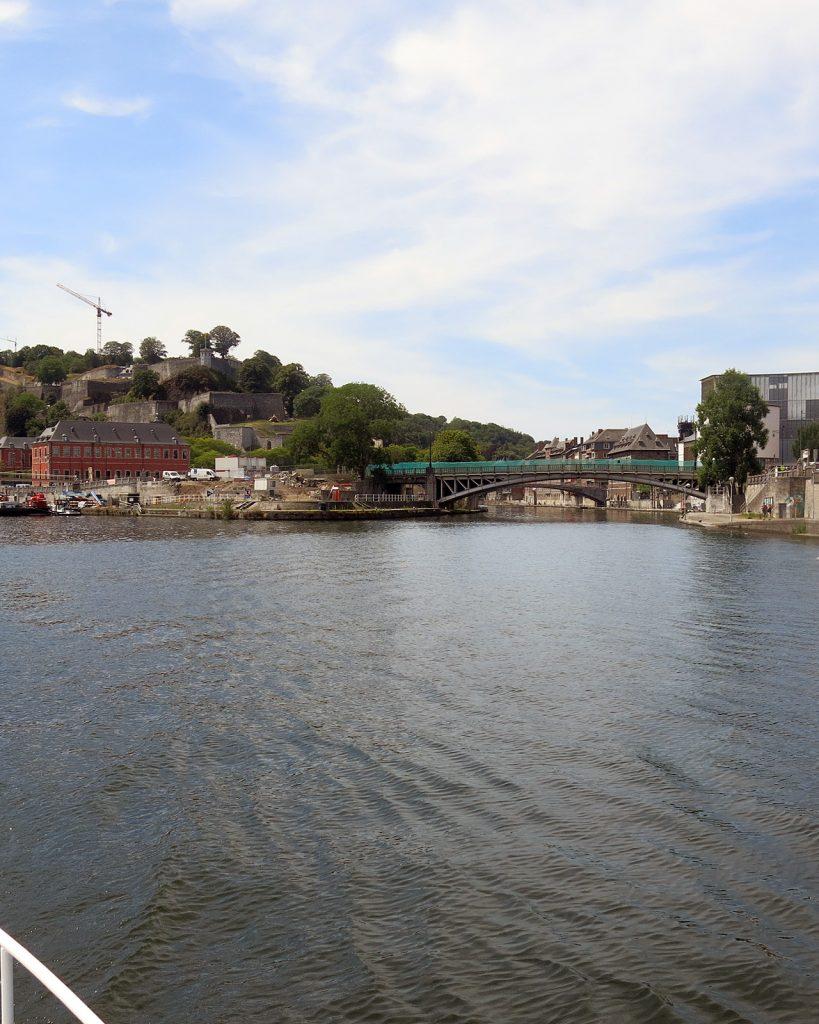Einmündung der Sambre in die Maas in Namur
